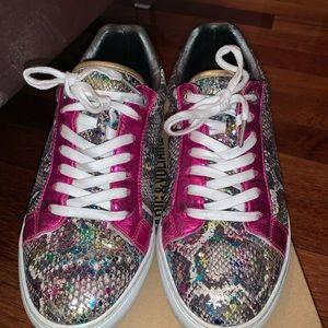 Zadig & Voltaire rainbow snake skin sneakers